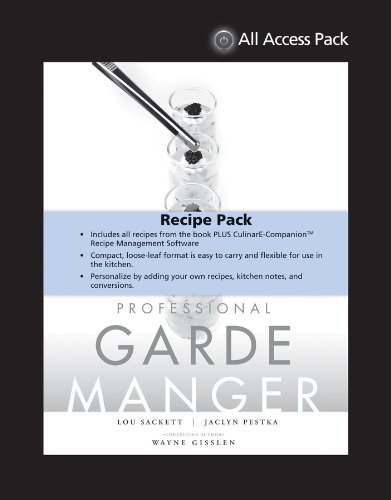 9781118737521: All Access Pack Recipes to Accompany Professional Garde Manger