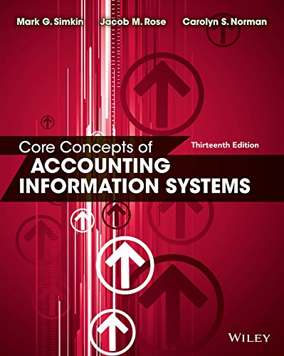 Core Concepts of Accounting Information Systems: Rose, Jacob M.