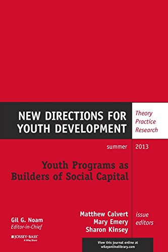 9781118743720: Youth Programs as Builders of Social Capital: New Directions for Youth Development, Number 138