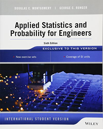 9781118744123: Applied Statistics and Probability for Engineers, 6th Edition International
