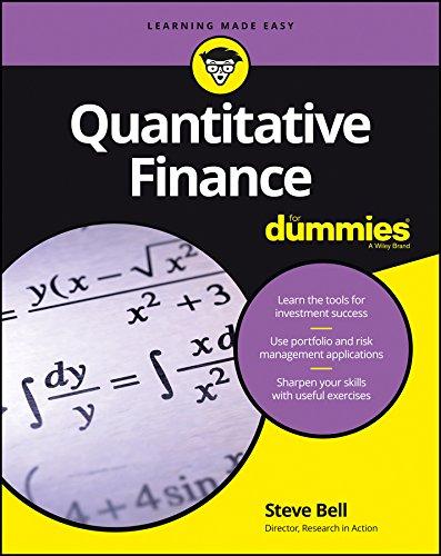 Quantitative Finance for Dummies (Paperback): Lenny Jordan