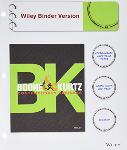 9781118772393: Contemporary Business, Binder Ready Version