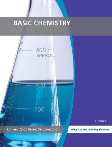 Basic Chemistry (University of Texas, San Antonio): wiley custom learning