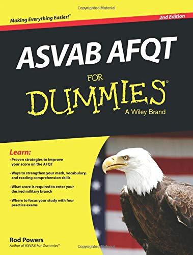 ASVAB AFQT For Dummies: Powers, Rod