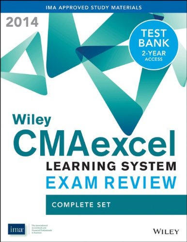 9781118776339: Wiley CMAexcel Learning System Exam Review 2014 + Test Bank Complete Set