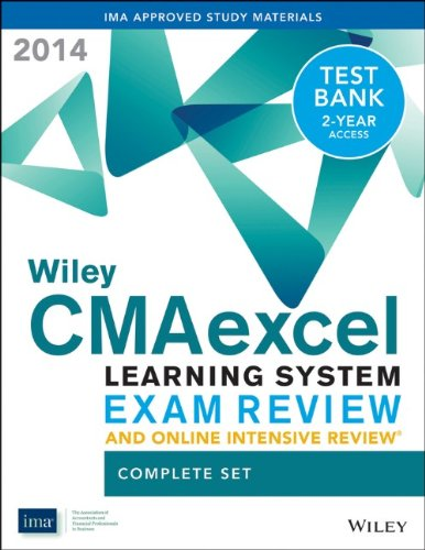 9781118776537: Wiley CMAexcel Learning System Exam Review and Online Intensive Review 2014 + Test Bank Complete Set (Wiley CMA Learning System)