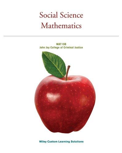 9781118783771: Social Science Mathematics - Mat108 John Jay College of Criminal Justice