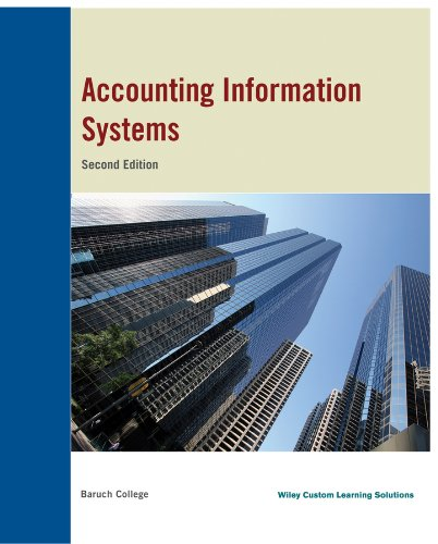9781118804940: Accounting Information System, Baruch College, 2nd Edition