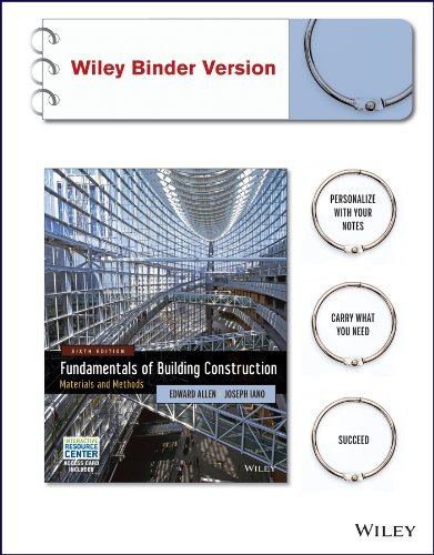 Fundamentals of Building Construction: Materials and Methods: Edward Allen