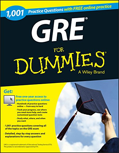 9781118825686: 1,001 GRE Practice Questions For Dummies with Free Online Practice
