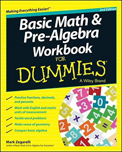 9781118828045: Basic Math and Pre-Algebra Workbook For Dummies