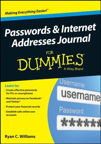 9781118828366: Passwords and Internet Addresses Journal For Dummies