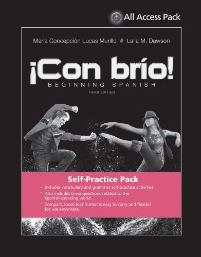 9781118829585: Print Component for Con brio: Beginning Spanish, Third Edition All Access Pack (Spanish Edition)