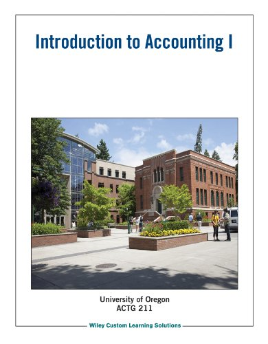 Introduction to Accounting I: Wiley Custom Learning