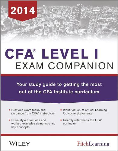 9781118832189: CFA level I Exam Companion: The Fitch Learning/Wiley Study guide to getting the most out of the CFA Institute Curriculum