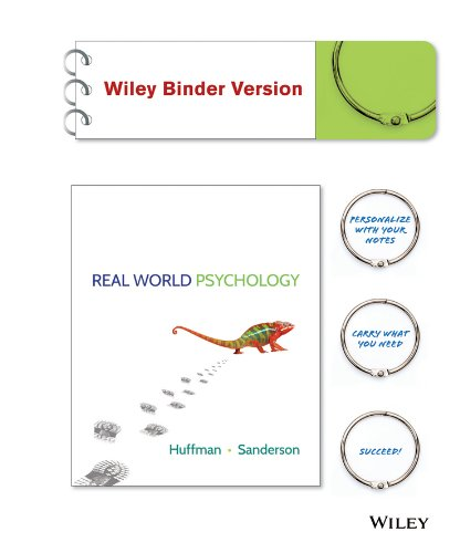 9781118865583: Real World Psychology Binder Ready Version + WileyPLUS Registration Card