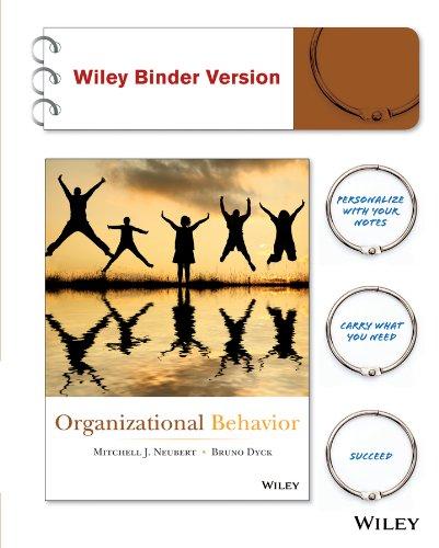 9781118868430: Organizational Behavior 1e Binder Ready Version + WileyPLUS Registration Card