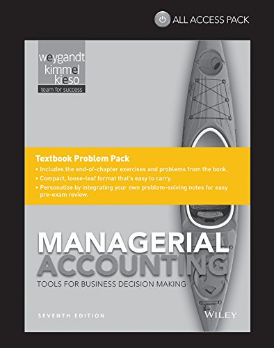 9781118869857: Managerial Accounting: Tools for Business Decision Making, 7e All Access Pack Print Component