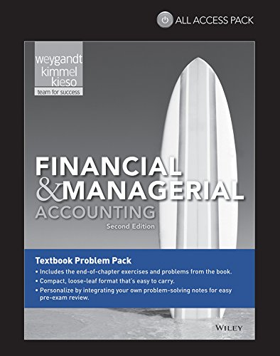 9781118869901: Financial & Managerial Accounting All Access Pack Print Component