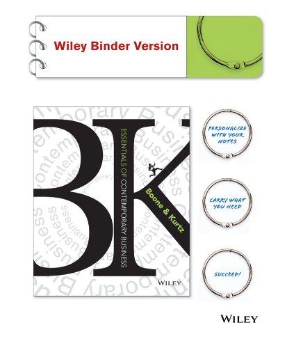 9781118876701: Essentials of Contemporary Business Binder Ready Version + WileyPLUS Registration Card (Wiley Plus Products)