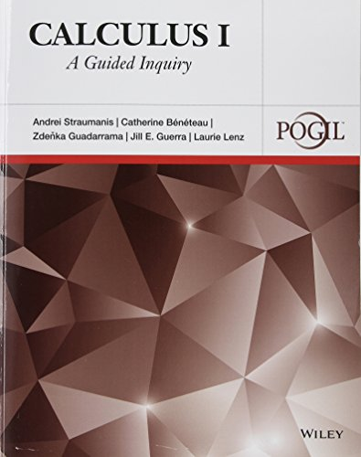 9781118877487: Calculus I: A Guided Inquiry