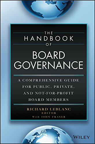 9781118895504: The Handbook of Board Governance: A Comprehensive Guide for Public, Private, and Not-for-Profit Board Members