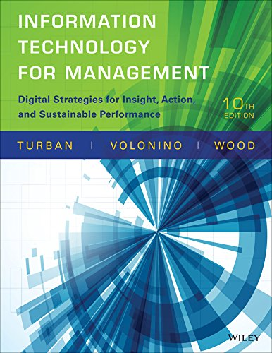9781118897782: Information Technology for Management: Digital Strategies for Insight, Action, and Sustainable Performance
