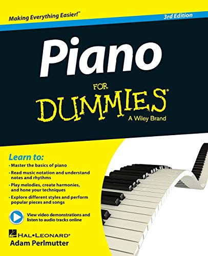 9781118900055: Piano For Dummies: Book + Online Video & Audio Instruction
