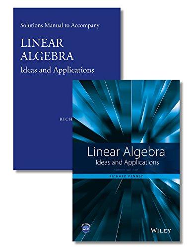 9781118911884: Linear Algebra: Ideas and Applications Set