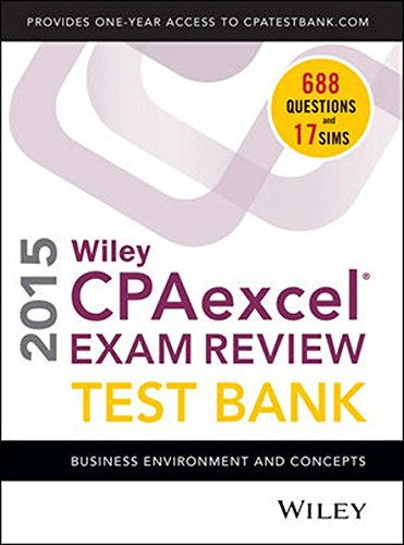9781118917824: Wiley CPA Excel Exam Review 2015 Test Bank