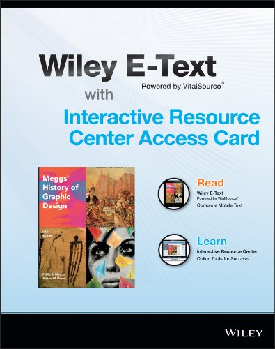 9781118922231: Meggs' History of Graphic Design, Fifth Edition Wiley E-Text Card and Interactive Resource Center Access Card