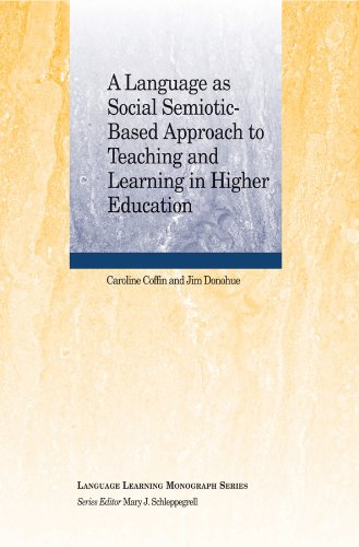 9781118923825: A Language as Social Semiotic-Based Approach to Teaching and Learning in Higher Education (Language Learning Monograph)