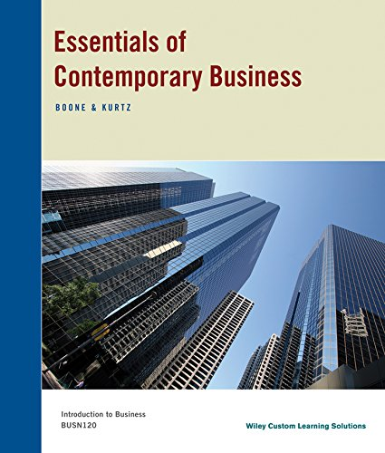 9781118937259: Essentials of Contemporary Business
