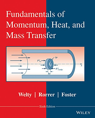 Fundamentals of Momentum, Heat, and Mass Transfer: Welty, James, Rorrer,