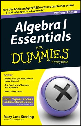 9781118956663: Algebra I Essentials for Dummies