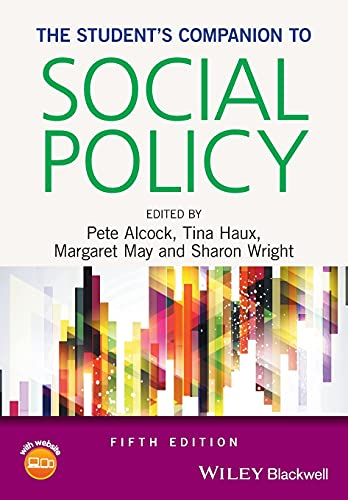 Student's Companion to Social Policy: Alcock, Pete