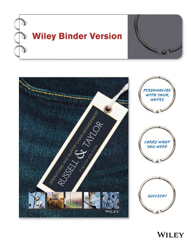 Operations and Supply Chain Management 8e Binder Ready Version + WileyPLUS Registration Card (Wiley...