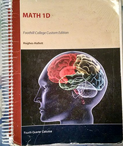 9781118971277: Math 1D Foothill College Custom Edition