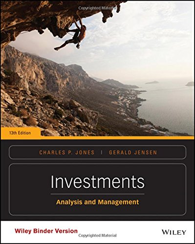 Investments, Binder Ready Version: Analysis and Management: Jones, Charles P.;