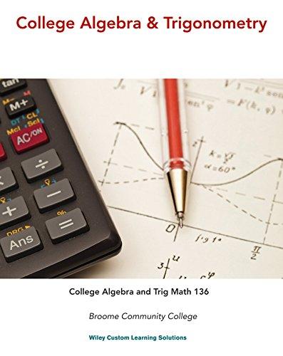 9781118976920: College Algebra and Trigonometry WITH WileyPLUS Activation Code