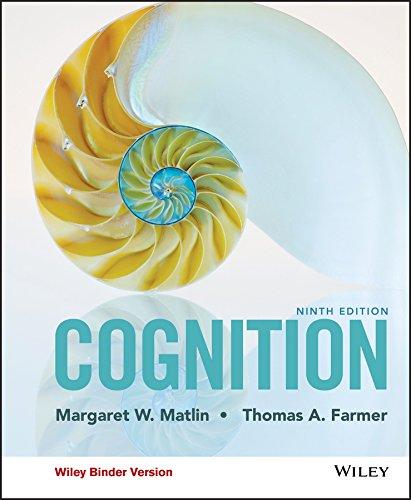 Cognition, Binder Ready Version: Matlin, Margaret W.;