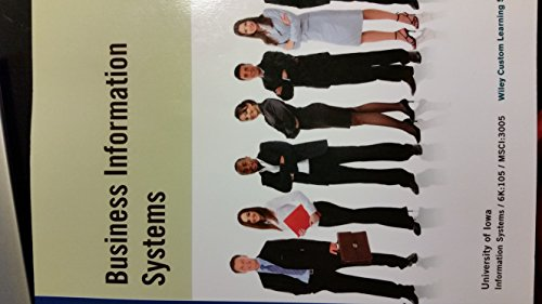 9781118988510: Business Information Systems