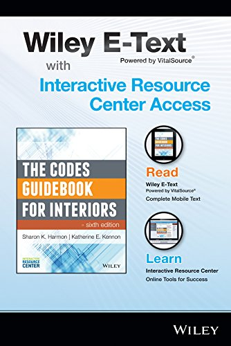 9781118990186: The Codes Guidebook for Interiors, 6e Wiley E-Text Folder and Interactive Resource Center Access Card