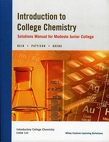 9781118994450: Introduction to College Chemistry: Solutions Manual for Modesto Junior College
