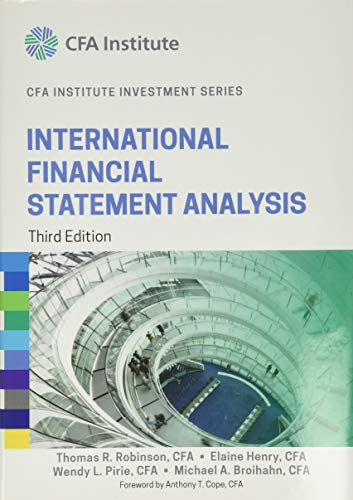 9781118999479: International Financial Statement Analysis (CFA Institute Investment Series)