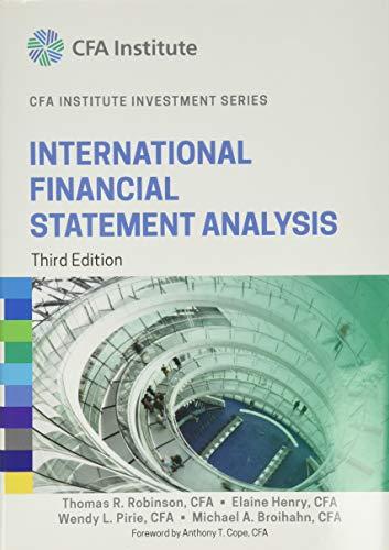 9781118999479: International Financial Statement Analysis (CFA Institute Investment Series)