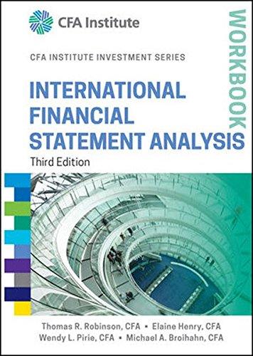 9781118999486: International Financial Statement Analysis Workbook