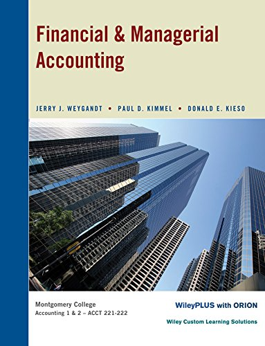 Financial and Managerial Accounting: Weygandt