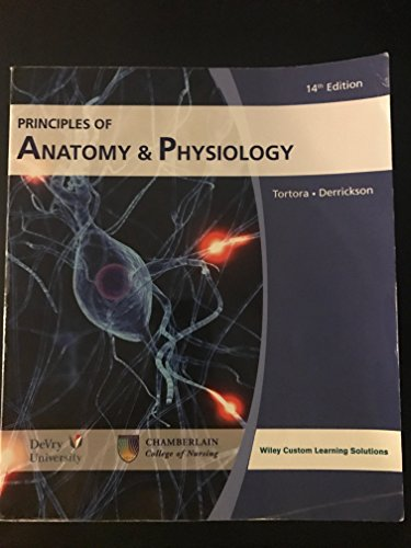 Principles Anatomy Physiology 14th Edition by Gerard Tortora Bryan ...