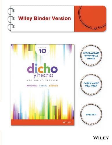 9781119021179: Dicho y hecho: Beginning Spanish (Spanish Edition)